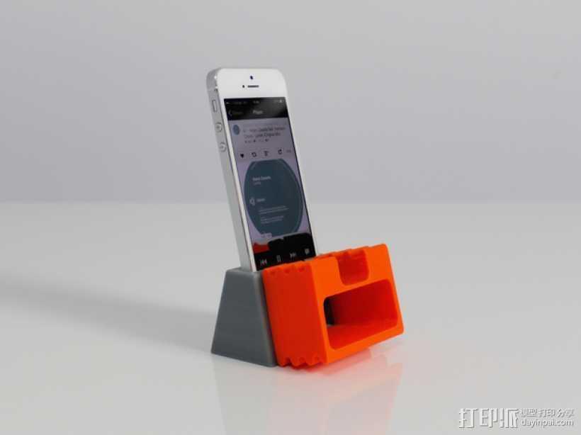 iPhone 5手机扩音器 3D打印模型渲染图