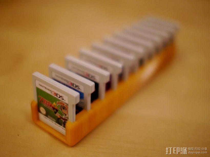游戏盘卡片盒 3D打印模型渲染图