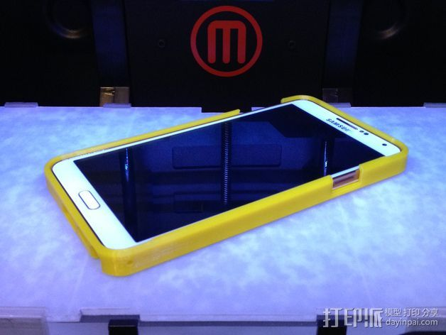 三星Galaxy Note 3 手机外壳 3D打印模型渲染图