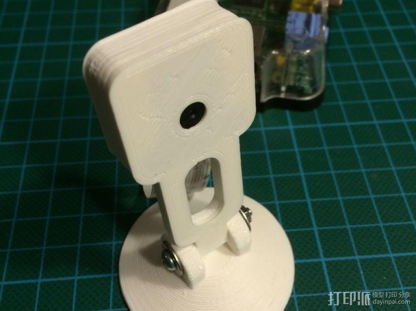 树莓派相机支撑架 3D打印模型渲染图