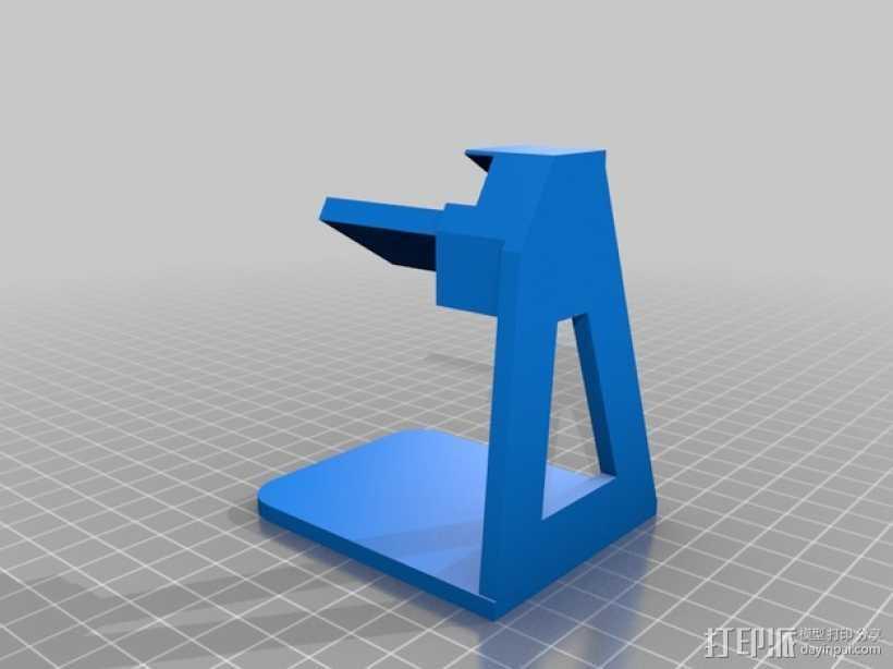 Pebble手表充电座 3D打印模型渲染图