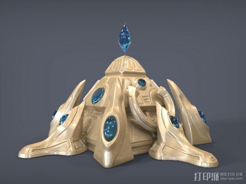 星际争霸神族基地 3D打印模型渲染图