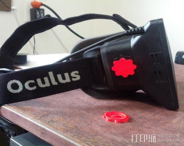 虚拟现实头戴显示器聚焦旋钮 3D打印模型渲染图