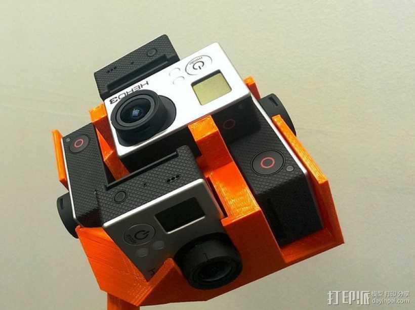 GoPro Hero 3相机框 相机盒 3D打印模型渲染图