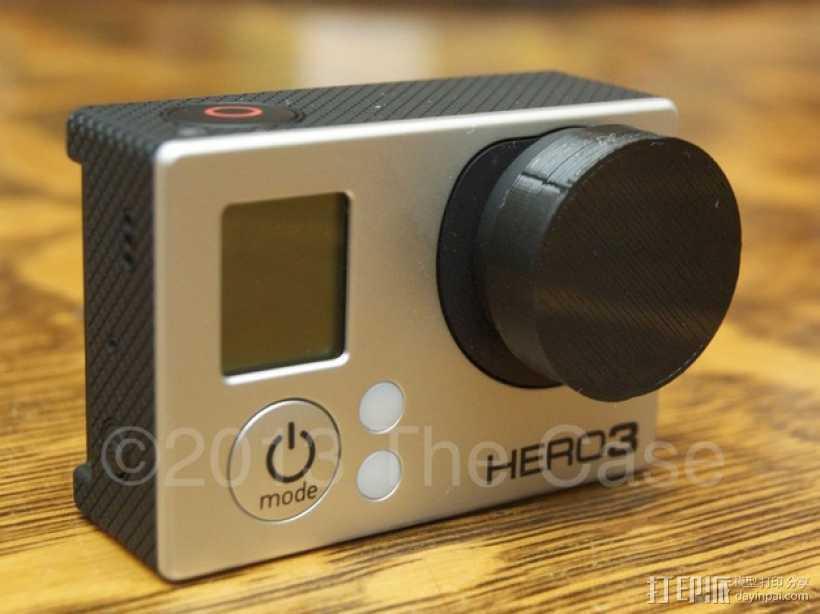 GoPro Hero3 相机镜头盖 3D打印模型渲染图