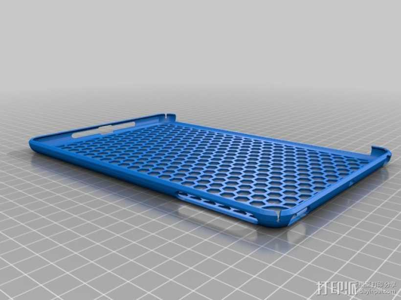 iPad Mini 蜂巢平板电脑保护外壳 3D打印模型渲染图