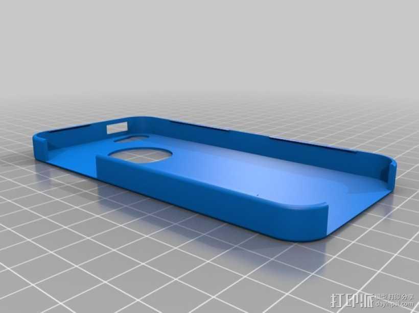 超薄的iPhone5/5s手机套 3D打印模型渲染图