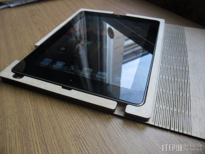 木质iPad平板电脑外壳 3D打印模型渲染图