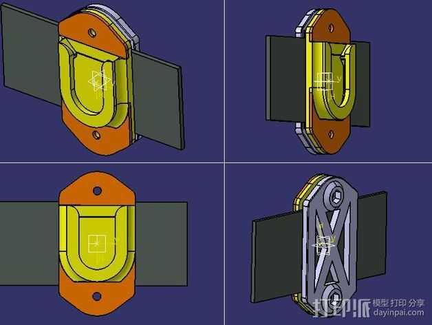 相机固定架 3D打印模型渲染图