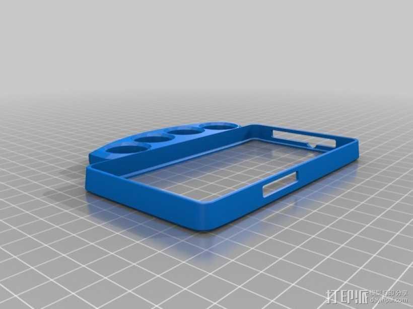 指节套环手机保护壳 3D打印模型渲染图