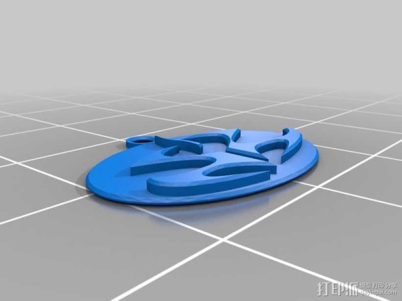 刺客标志钥匙坠 3D打印模型渲染图