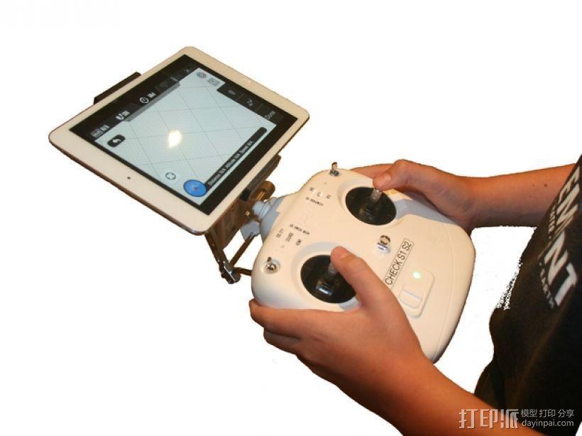 iPad mini 平板电脑遥控底座 3D打印模型渲染图