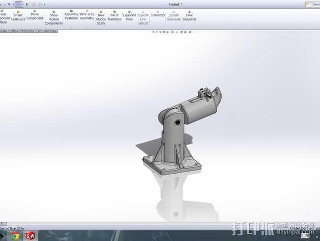 扩音器底座 3D打印模型渲染图