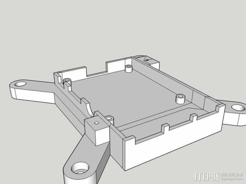 树莓派保护框 保护盒 3D打印模型渲染图