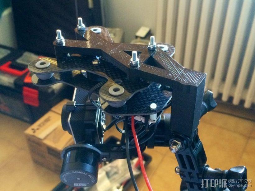 3轴平衡环支架 3D打印模型渲染图