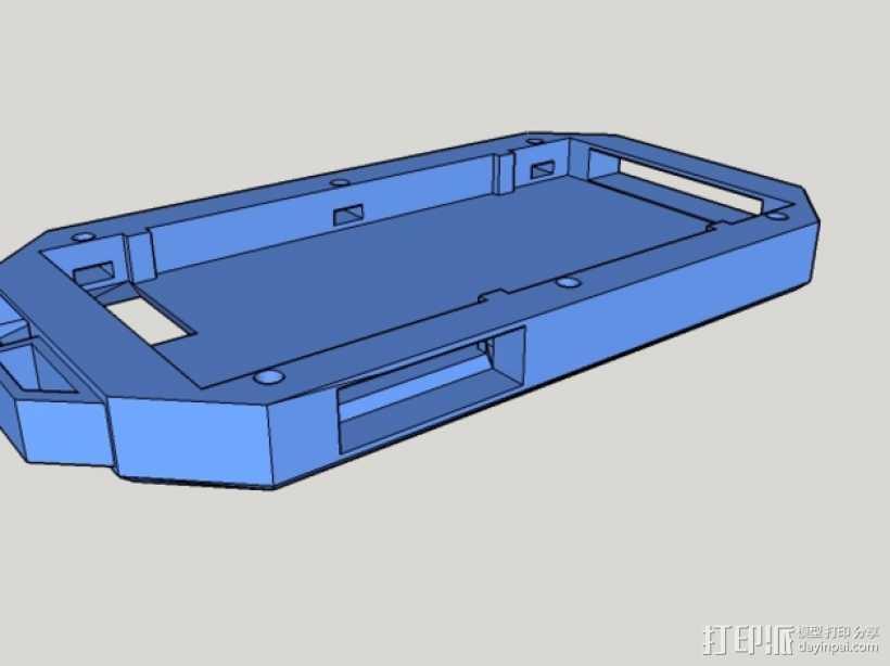 Iphone5C手机保护外壳 3D打印模型渲染图