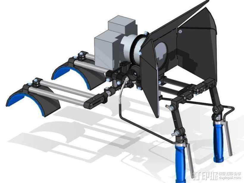 相机固定装置 相机架 3D打印模型渲染图
