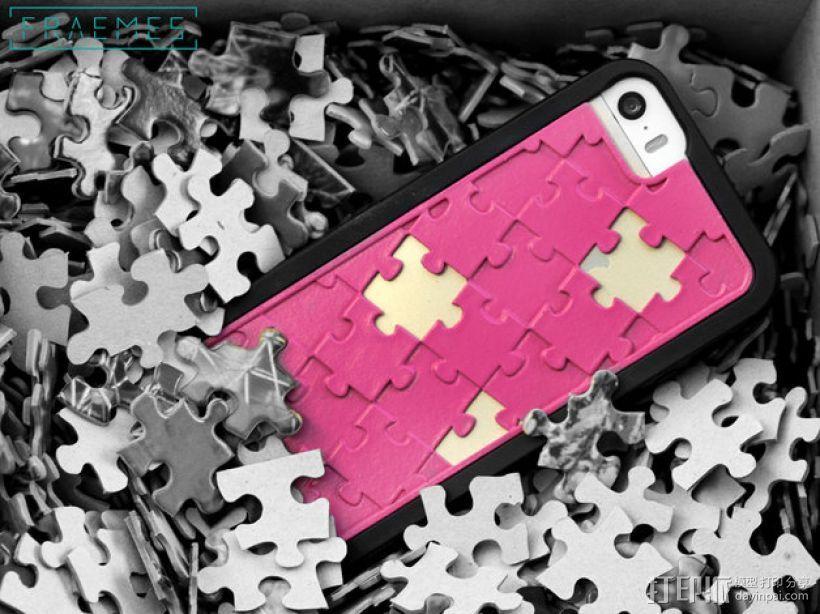拼图iPhone 5/5S/5C 手机外壳 3D打印模型渲染图