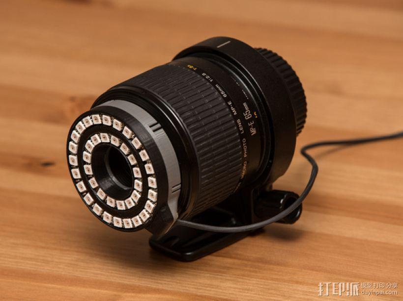 佳能MP-E 65相机镜头环形灯 3D打印模型渲染图