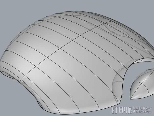 苹果笔记本电脑标志 3D打印模型渲染图