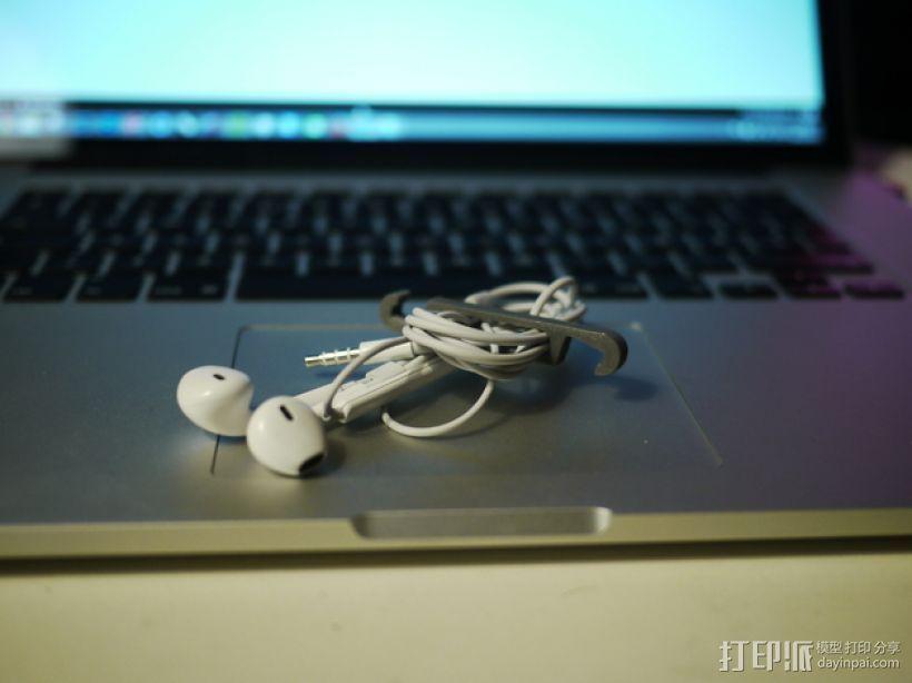 iPhone5/5s 手机支撑架 耳机收纳器 3D打印模型渲染图