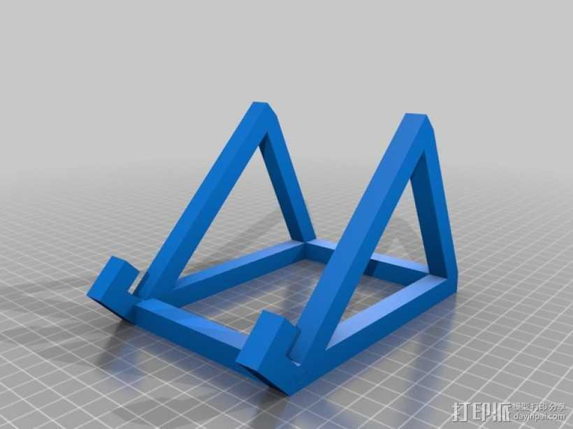 定制iPad固定架 3D打印模型渲染图