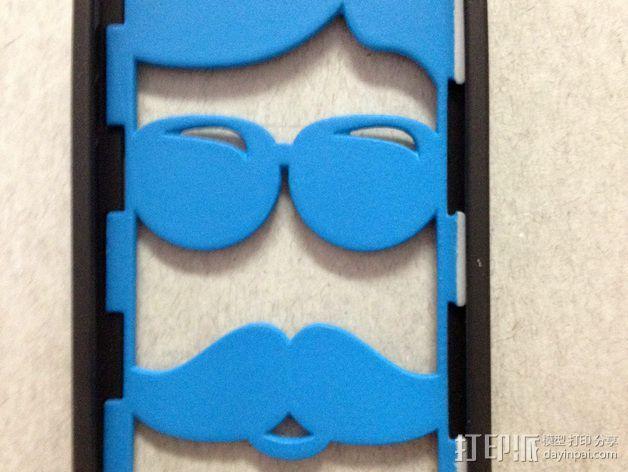 iPhone 5/5S胡须外壳 3D打印模型渲染图