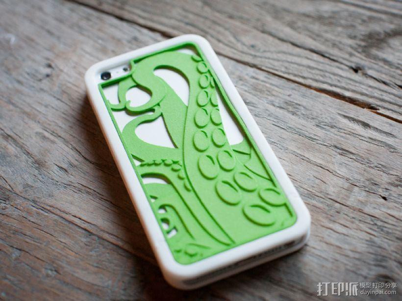 章鱼触手iPhone手机套 3D打印模型渲染图