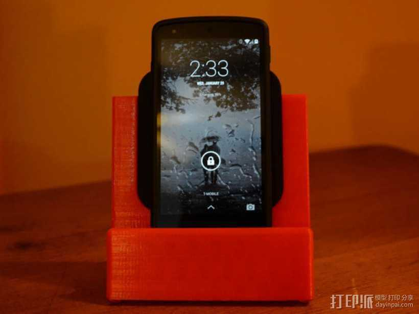 Nexus 5 & 7手机充电座 3D打印模型渲染图