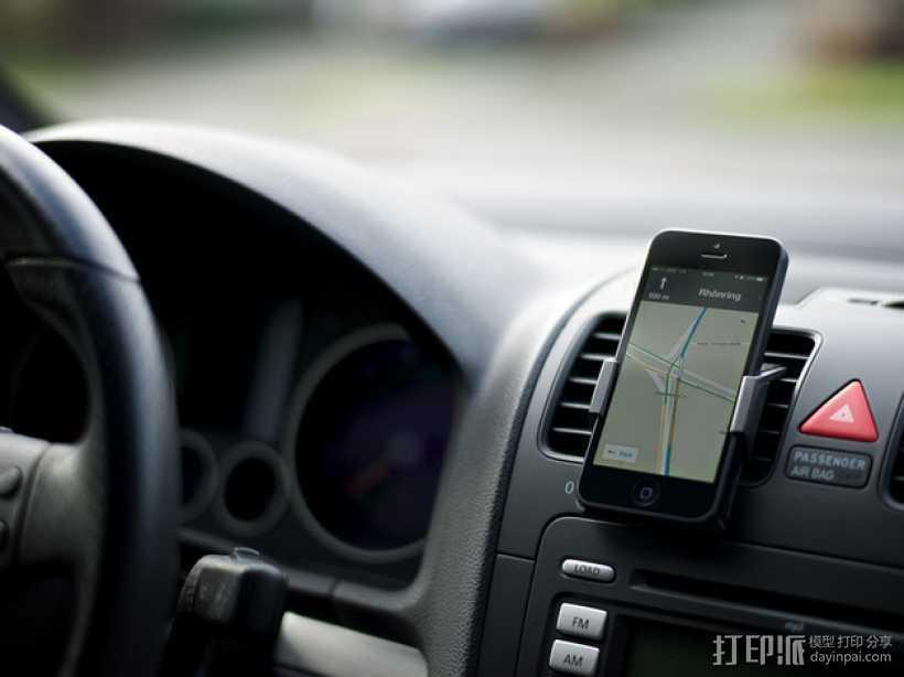 车载式iPhone 5手机架 3D打印模型渲染图