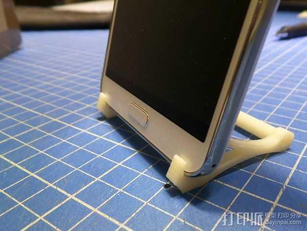 三星Galaxy NOTE 3 手机支架 3D打印模型渲染图