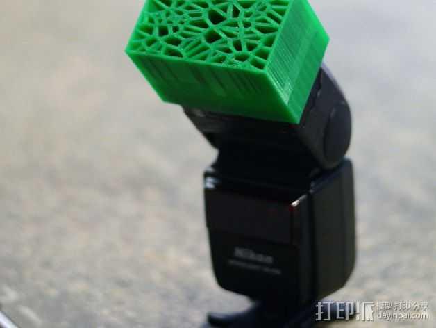 尼康相机闪光灯保护罩 3D打印模型渲染图