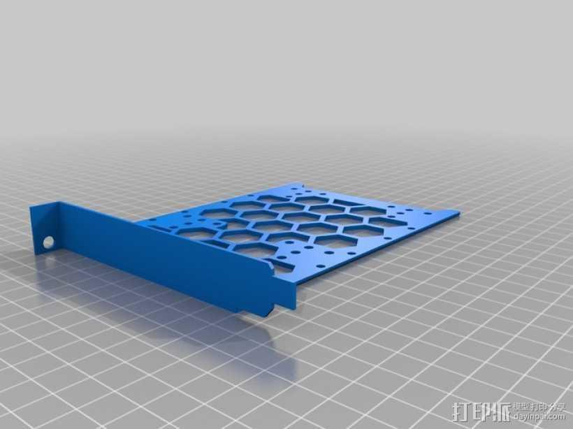 电脑硬盘支架 3D打印模型渲染图