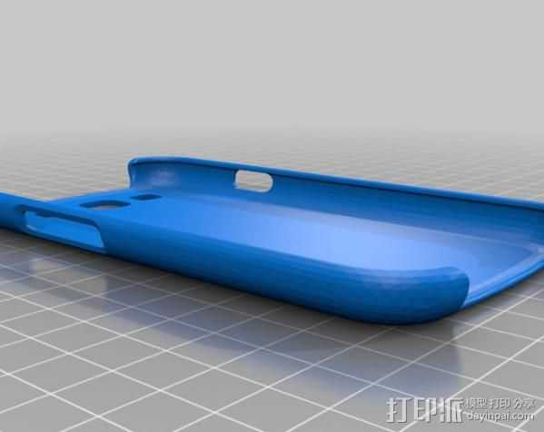 三星Galaxy S3手机外壳 3D打印模型渲染图