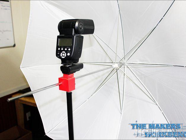 摄影反光伞固定器 3D打印模型渲染图