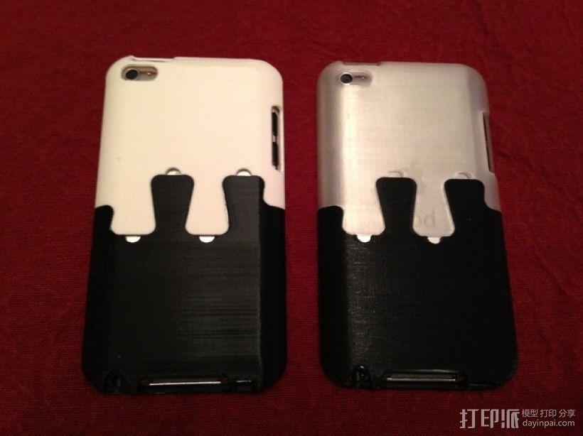 iPod Touch 鸽子尾巴保护壳 3D打印模型渲染图