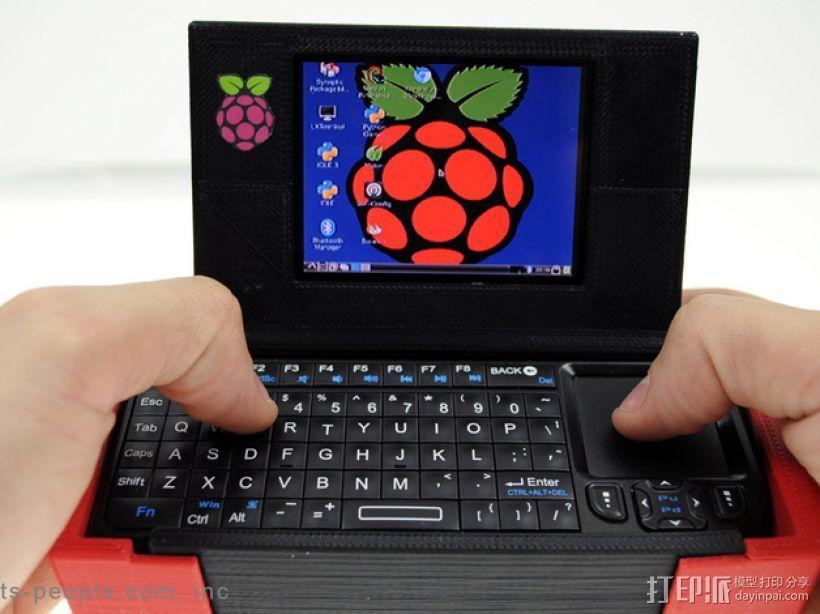 树莓派游戏机外盒 3D打印模型渲染图