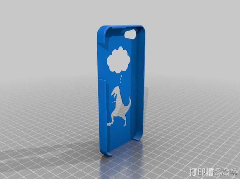 恐龙手机外壳 3D打印模型渲染图