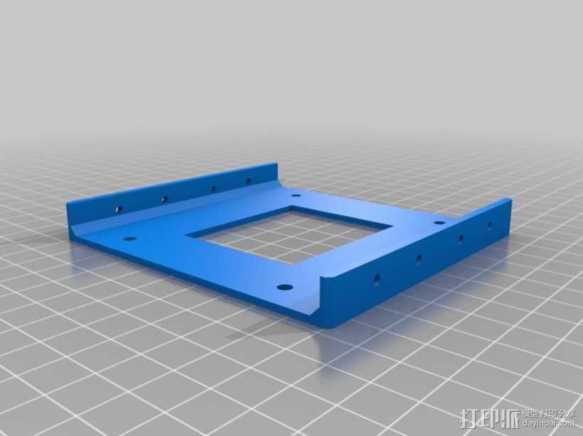 硬盘驱动适配器 保护框  3D打印模型渲染图