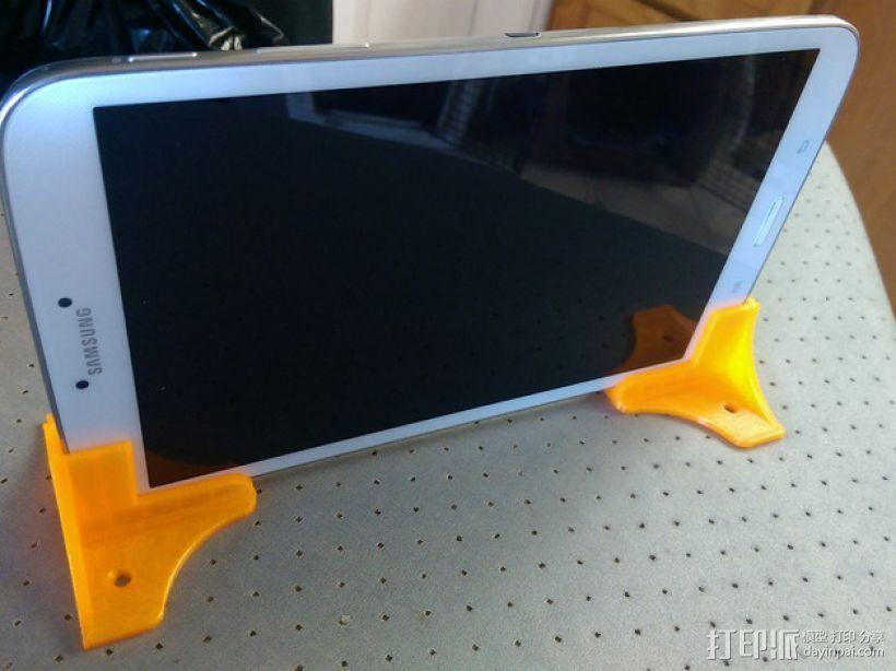 三星Samsung Tab 8平板电脑直立支撑架 3D打印模型渲染图