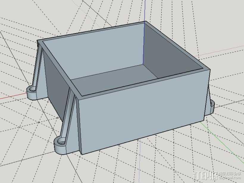 储物盒 游戏机盒 3D打印模型渲染图