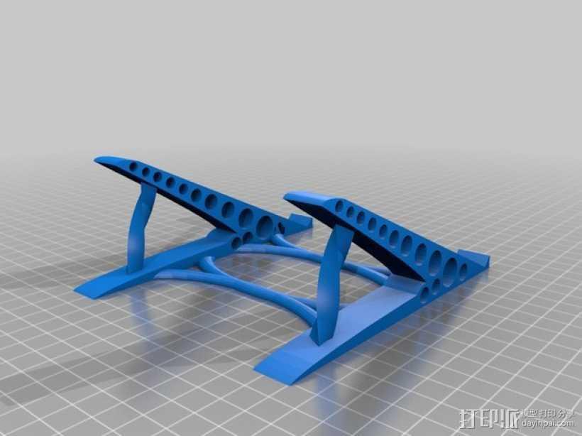 鼠标架 3D打印模型渲染图