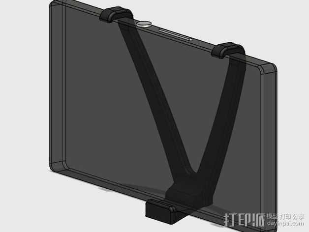 车载式索尼Sony Xperia Z手机支架 3D打印模型渲染图