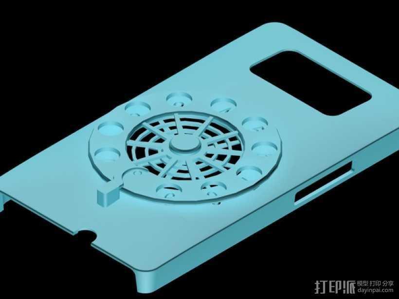 HTC HD2手机保护壳 3D打印模型渲染图
