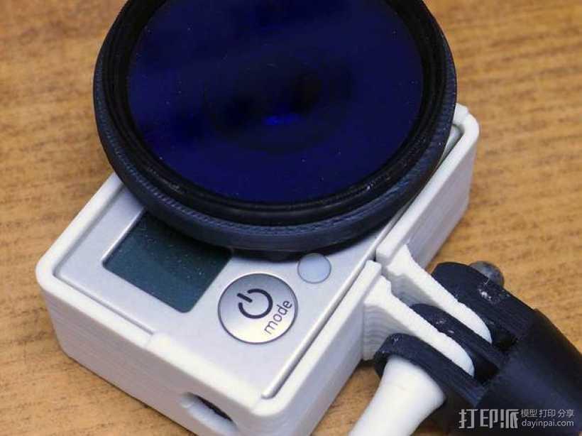GoPro Hero 3相机滤镜适配器 3D打印模型渲染图