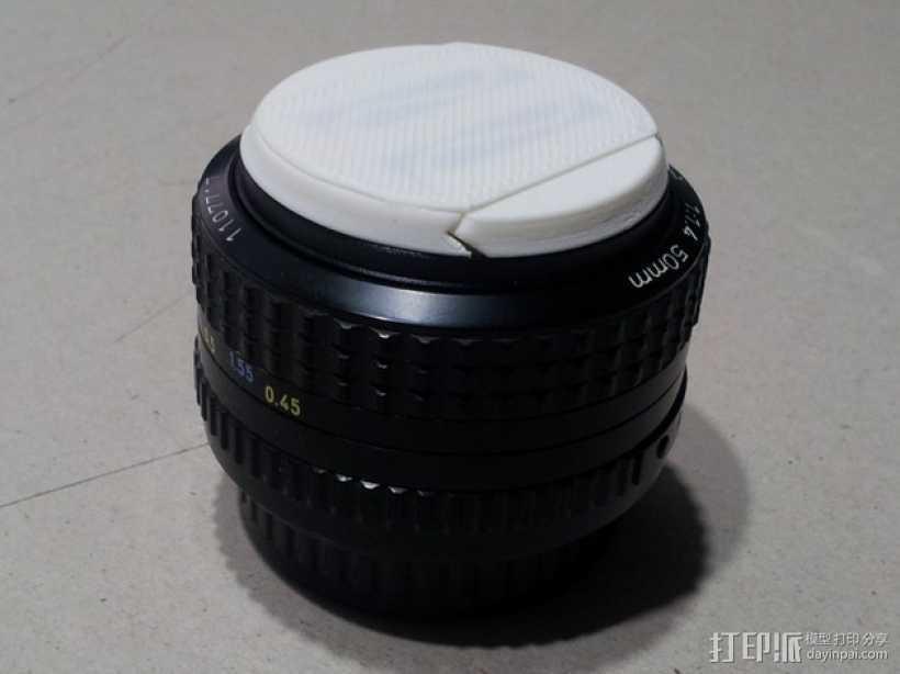 相机镜头盖 3D打印模型渲染图