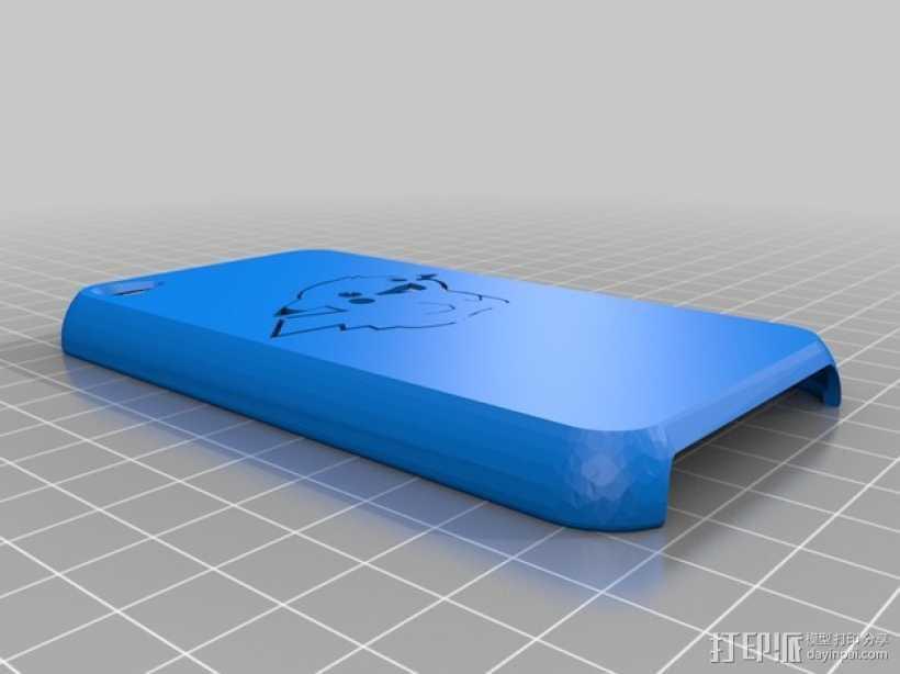 皮卡丘IPod 4外壳 3D打印模型渲染图