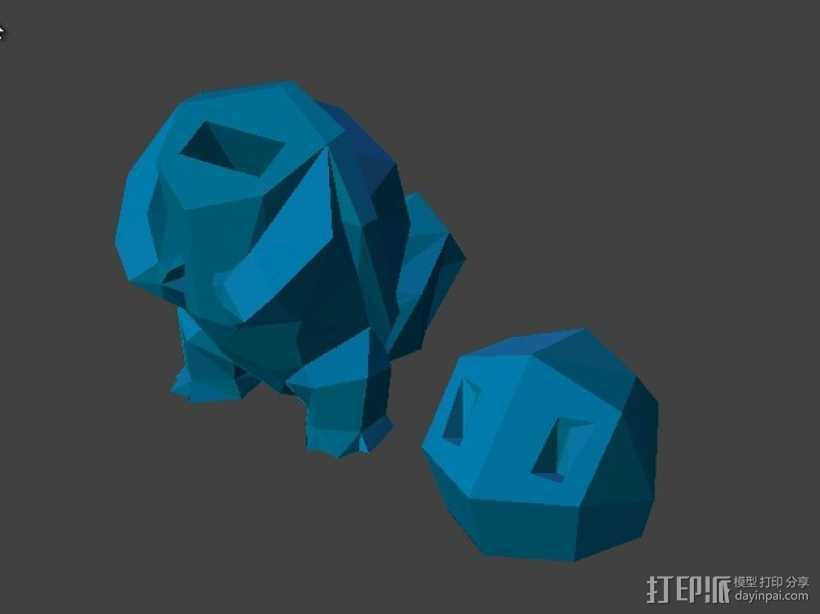 杰尼龟USB套 3D打印模型渲染图
