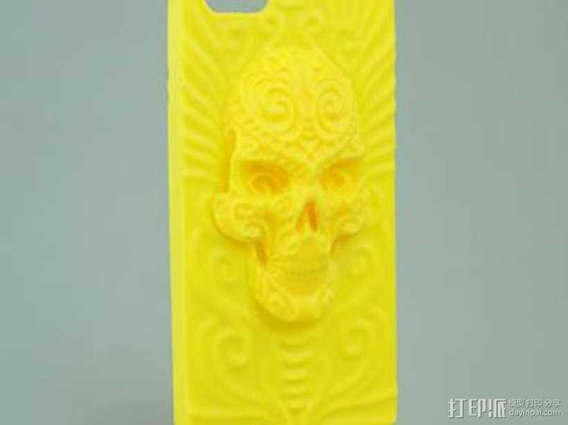 死亡圣神iPhone5手机外壳 3D打印模型渲染图