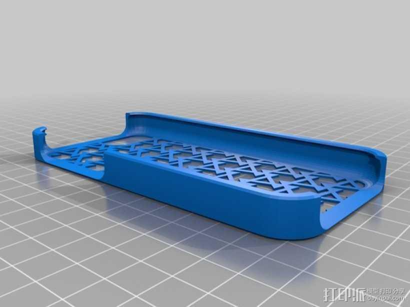 iPhone手机保护外壳 3D打印模型渲染图